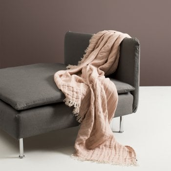Beautiful Linen Throw Nude/Natural