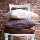 Crinkled Linen Cushion Nude