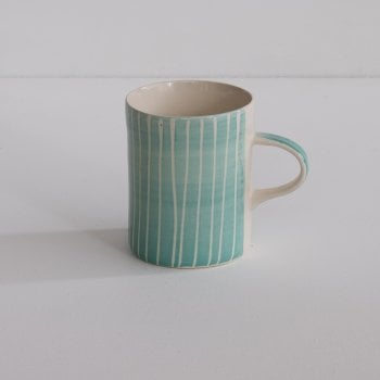 Mint Sgraffito Demi Mug