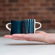 Teal Espresso Cups