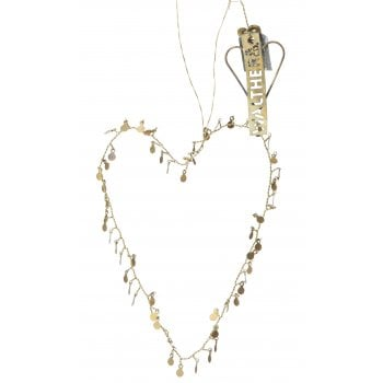 Walther & Co. Golden Sequins Heart
