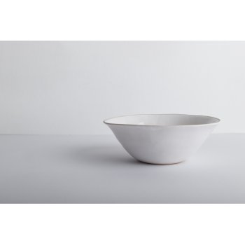 Wonki Ware Cereal Bowl Beach Sand White