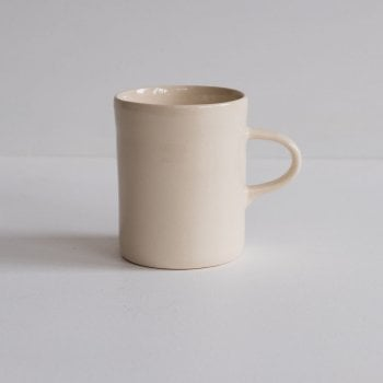 Wonki Ware Cream Plain Wash Demi Mug