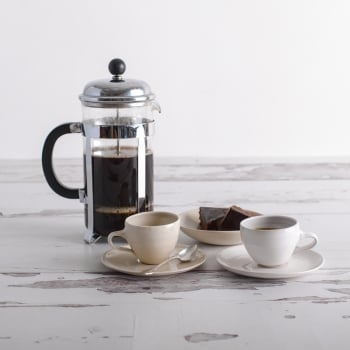 Wonki Ware Espresso Cup and Saucer in Charcoal