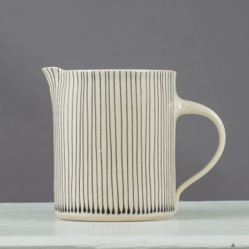 Large Jug Charcoal Stripe