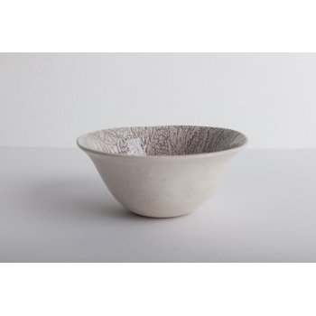 Wonki Ware Noddle Bowl - Mixed Lace - Aubergine
