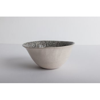 Wonki Ware Noodle Bowl - Mixed Lace - Charcoal