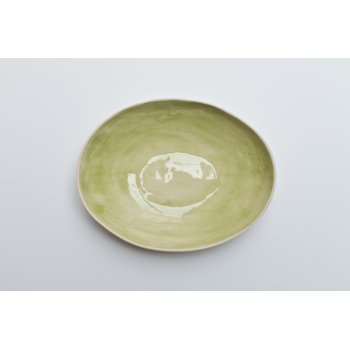 Wonki Ware Oval Bowl - Beach Sand - Green
