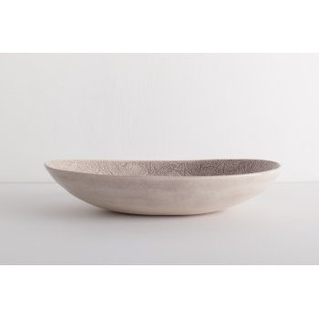 Wonki Ware Oval Bowl - Mixed Lace - Aubergine