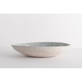 Wonki Ware Oval Bowl - Mixed Lace - Duck Egg