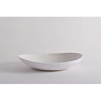 Oval Bowl - Mixed Lace - White