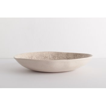 Wonki Ware Oval Dish - Mixed Lace - Stone