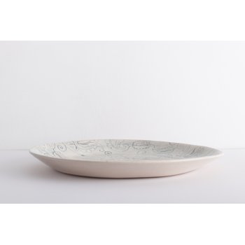 Wonki Ware Paella Platter - Mixed lace - Duck Egg Blue