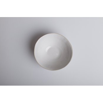 Wonki Ware Pudding Bowl Beach Sand White