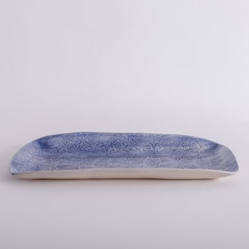 Wonki Ware Rectangular Platter - Mixed Lace - Cornflower Blue