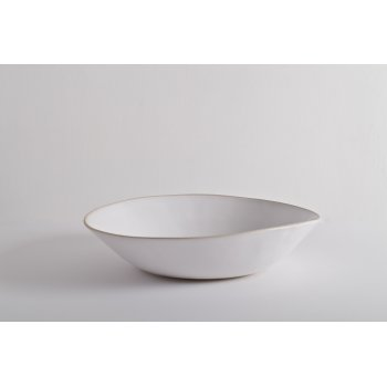 Wonki Ware Salad Bowl - Beach Sand - White