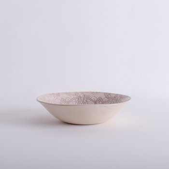 Wonki Ware Salad Bowl - Mixed Lace - Aubergine