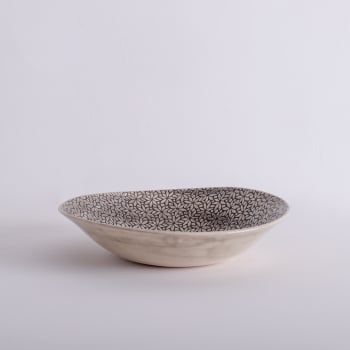 Wonki Ware Salad Bowl - Mixed Lace - Charcoal