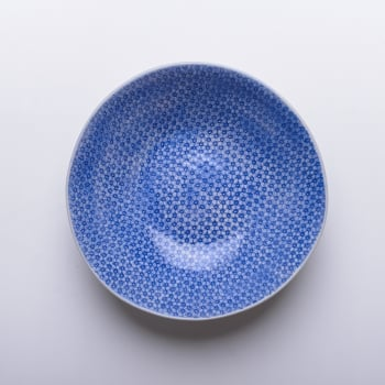 Wonki Ware Salad Bowl - Mixed Lace - Cornflower Blue