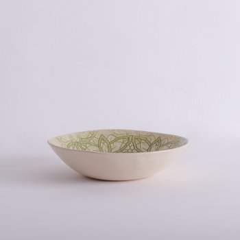 Wonki Ware Salad Bowl - Mixed Lace - Green