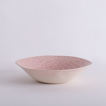 Wonki Ware Salad Bowl - Mixed Lace - Pink