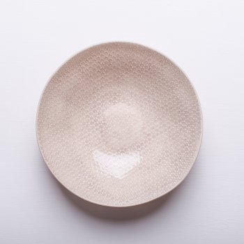 Wonki Ware Salad Bowl - Mixed Lace - Stone