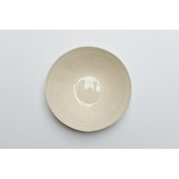 Wonki Ware Salad Bowl Raised Line Stone