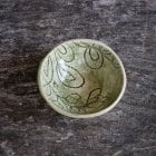Salt Dish Dark Green mixed Lace