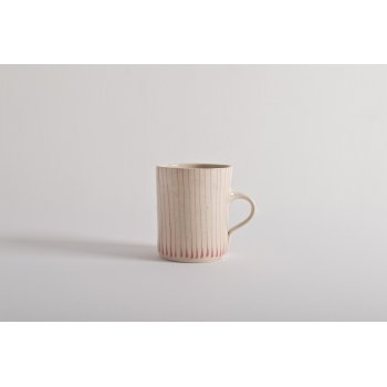 Wonki Ware Small Mug Thin Stripe Pink
