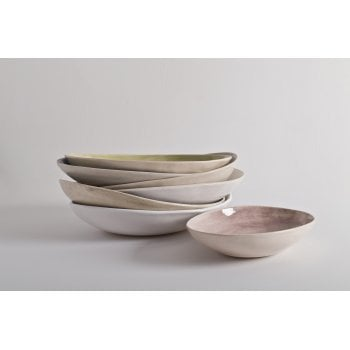 Wonki Ware Small Oval Bowl Beach Sand Aubergine