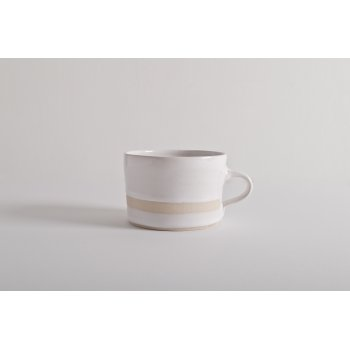 Wonki Ware Squat Mug Wax Line White